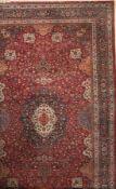 Mashad Signiert Amogli, Persien, ca. 70 Jahre, Wolle auf Baumwolle, ca. 650 x 390 cm, EHZ: 3(