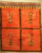 Mongolische Engsi Design, um 1940, Wolle auf Baumwolle, ca. 370 x 300 cm, EHZ: 3Mongolian Engsi