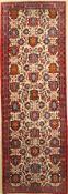 Weramin alt, Persien, ca. 50 Jahre, Wolle auf Baumwolle, ca. 332 x 114 cm, seltenes Format,