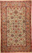 Keschan Signiert, Persien, ca. 40 Jahre, Wolle auf Baumwolle, ca. 220 x 136 cm, EHZ: 2-3Kashan Rug