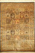 Seiden Ghom alt, Persien, ca. 50 Jahre, reine Naturseide, ca. 208 x 142 cm, EHZ: 2Silk Qum Rug ,