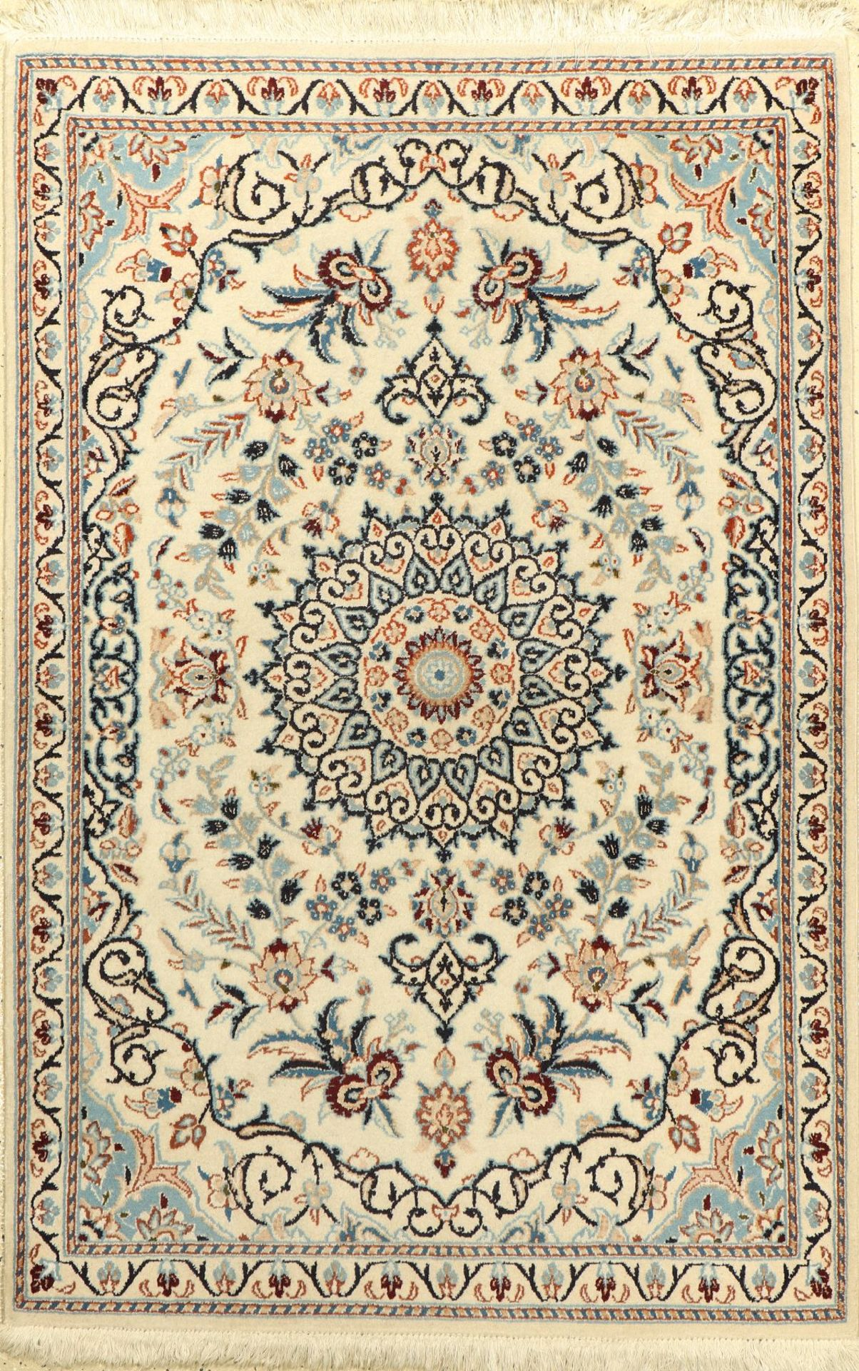 Nain, Persien, ca. 30 Jahre, Wolle auf Baumwolle, ca. 137 x 91 cm, EHZ: 2-3Nain Rug , Persia,