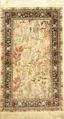 China Seide, ca. 40 Jahre, reine Naturseide, ca. 157 x 92 cm, EHZ: 2China silk Rug , China, circa 40