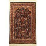 Tabriz fein, China, ca. 40 Jahre, Korkwollemit Seide, ca. 185 x 117 cm, EHZ: 2Fine Chinese Tabriz