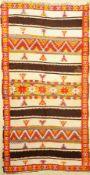 Altas alt, Marokko, ca. 60 Jahre, Wolle aufWolle, ca. 270 x 140 cm, Dekorativ, EHZ: 2Altas Rug ,