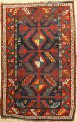 Armenischer Kasak alt, Kaukasus, um 1930, Wolle auf Wolle, ca. 193 x 126 cm, EHZ: 4Armenian Kazak
