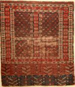 Yomud Ensi, Turkmenistan, um 1900, Wolle auf Wolle, ca. 153 x 134 cm, EHZ: 5Yomud Engsi Rug ,