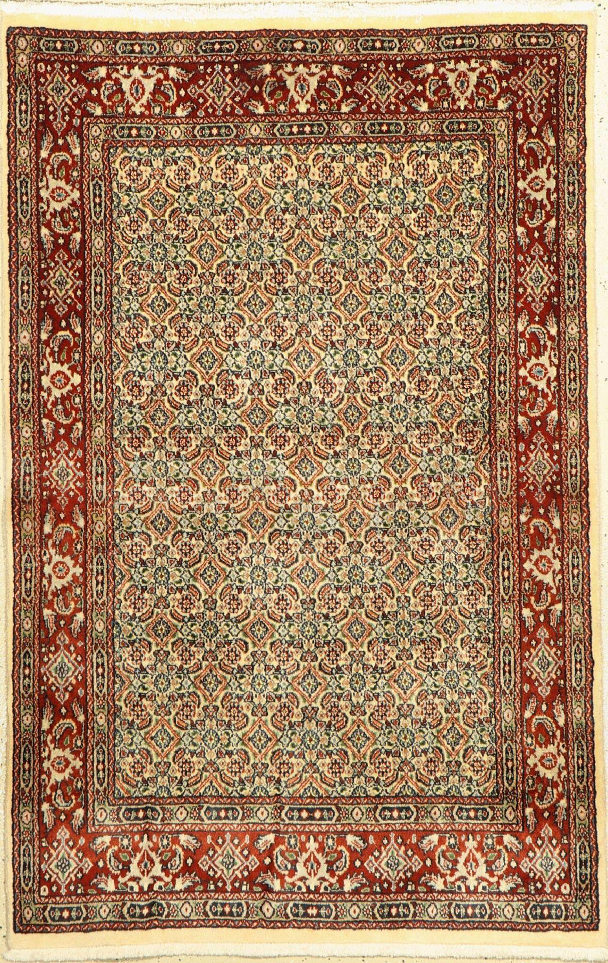 Mud fein, Persien, Korkwolle, ca. 150 x 105cm, EHZ: 2Moud Rug, Persia, wool/cotton, approx. 150 x