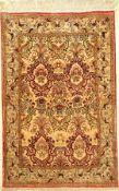 Ghom Seide, Persien, ca. 60 Jahre, reine Naturseide, ca. 162 x 106 cm, EHZ: 2-3Silk Qum Rug ,