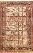 Ghom Seide, Persien, ca. 40 Jahre, reine Naturseide, ca. 200 x 131 cm, EHZ: 2-3Silk Qum Rug ,