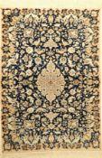 Feiner Nain (Part-Silk) alt, Persien, ca. 60 Jahre, Korkwolle mit Seide, ca. 158 x 110 cm, ca. 1,0