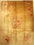 Peking alt, China, um 1940, Korkwolle, ca. 350 x 270 cm, dekorativ, EHZ: 2-3Beijing Carpet ,