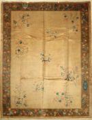 Peking alt, China, um 1930/1940, Korkwolle,ca. 346 x 270 cm, EHZ: 2-3Beijing Carpet , China, circa