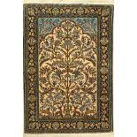 Ghom, Persien, ca. 40 Jahre, Wolle auf Baumwolle+Seide, ca. 158 x 110 cm, EHZ: 2Qum Rug , Persia,