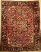 Heriz alt, Persien, um 1930/1940, Wolle aufWolle, ca. 345 x 270 cm, EHZ: 3Heriz Carpet , Persia,