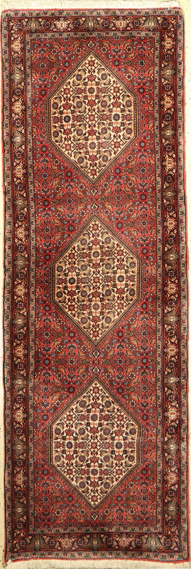 Bidjar, Persien, ca. 50 Jahre, Korkwolle, ca. 222 x 75 cm, EHZ: 2Bijar Rug , Persia, approx. 50