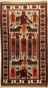 Belutsch alt, Afghanistan, ca. 60 Jahre, Wolle auf Wolle, ca. 198 x 112 cm, EHZ: 2-3Baluch Rug ,