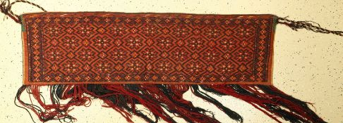 "Yomud Torba alt (Flachgewebt), Turkmenistan, um 1920, Wolle auf Wolle, EHZ: 2-3.Yomut ""Torba"" ("