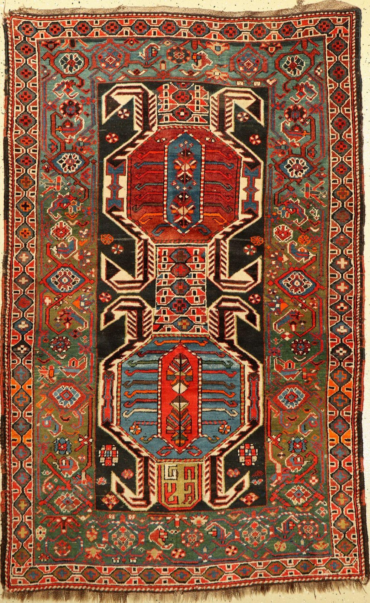 Azerbaijan (Lenkoran Muster), alt, Persien/Kaukasus, um 1930, Wolle auf Wolle, ca. 194 x 123 cm,