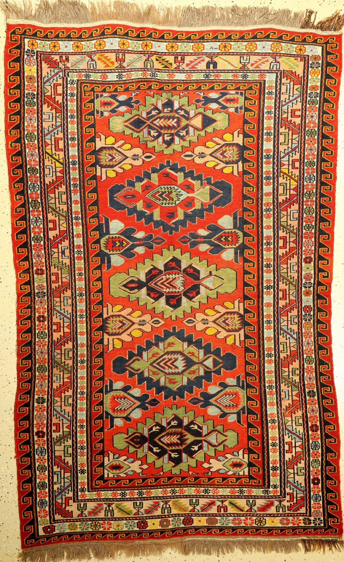 Sumakh alt, Kaukasus, Eriwan, ca. 70 Jahre,Wolle auf Wolle, ca. 133 x 215 cm, EHZ: 2Sumakh Rug ,