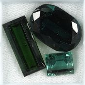 Lot 3 lose Turmaline, best. aus: 1 x oval facett., ca. 11.58 ct, 1 x Baguette, ca. 5.14 ct, 1 x