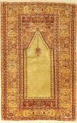 Seiden Kaisery alt, Türkei, ca. 50 Jahre, reine Naturseide, ca. 114 x 72 cm, EHZ: 3Silk Kaisery Rug,