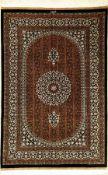 """Sehr feiner Seiden Ghom """"Masoumi"""" (Signiert), Persien, ca. 10 Jahre alt, reine Naturseide, ca. 153 x"""