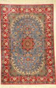 Esfahan fein, Persien, ca. 30 Jahre, Korkwolle auf Seide, ca. 155 x 103 cm, EHZ: 2-3Fine Isfahan