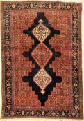 Feiner Senneh alt, Persien, um 1930, Wolle auf Baumwolle, ca. 195 x 133 cm, Naturfarben, sehr