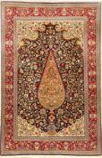 Feiner Ghom Kork (Part-Silk), Persien, ca. 30 Jahre, Korkwolle mit Seide, ca. 209 x 137 cm,