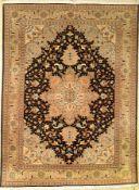 Täbriz fein (50 RAJ), Persien, ca. 50 Jahre, Korkwolle mit Seide, ca. 204 x 154 cm, EHZ: 2, (