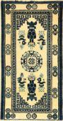 Pao Tao antik, China, um 1900, Wolle auf Baumwolle, ca. 124 x 64 cm, EHZ: 2-3 Etwas verkürztPao