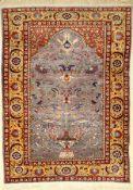 Kayseri Seide, Türkei, ca. 40 Jahre, reine Naturseide, ca. 153 x 113 cm, EHZ: 3Silk Kaisery Rug,