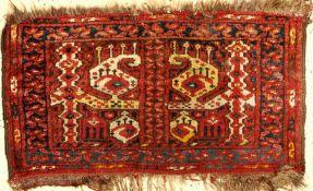 Ersari Taschenfront alt, Afghanistan, um 1930, Wolle auf Wolle, ca. 68 x 40 cm, EHZ: 3Afghan