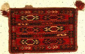 Yomud Spindeltasche alt, Turkmenistan, um 1920, Wolle auf Wolle, ca. 48 x 32 cm, EHZ: 2Yomut Bag,