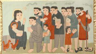 Tapisserie alt, Deutsch, um 1930/1940, Wolle auf Wolle, ca. 198 x 115 cm, EHZ: 2, seltenes