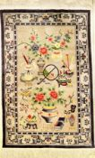 Seiden Peking alt, China, ca. 50 Jahre, reine Naturseide, ca. 190 x 123 cm, EHZ: 2, dekorativSilk