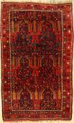 Belutsch alt, Persien, ca. 60 Jahre, Wolle auf Baumwolle, ca. 183 x 114 cm, EHZ: 3Rare Baluch Rug,