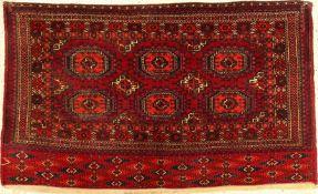 Tekke Tschowal antik, Turkmenistan, um 1900, Wolle auf Wolle, ca. 146 x 88 cm, EHZ: 3-4Tekke