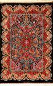 """Sehr feiner Seiden Ghom """"Moradi"""" (Signiert), Persien, ca. 10 Jahre alt, reine Naturseide, ca. 152"""