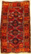 Yörük, Anatolien, um 1930, Wolle auf Wolle,ca. 197 x 122 cm, EHZ: 3Kurdish Yoruk Rug, Turkey/