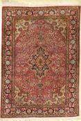 Seiden Ghom, Persien, ca. 30 Jahre, reine Naturseide, ca. 150 x 106 cm, EHZ: 4Silk Qum Rug,