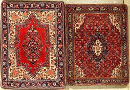 "1 Paar Sarogh ""Kissen"", Persien, ca. 30 Jahre, Korkwolle, ca. 90 x 70 cm, 90 x 70 cm, EHZ: 2A Pair"