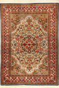 Ghom Kork fein, Persien, ca. 40 Jahre, Korkwolle, ca. 157 x 113 cm, EHZ: 2Fine Kurk Qum Rug, Persia,
