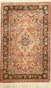 Seiden Ghom, Persien, ca. 30 Jahre, reine Naturseide, ca. 123 x 80 cm, EHZ: 3 (reinigungsbed.)Silk