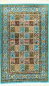 """Sehr feiner Seiden Ghom """"Mousavi"""" (Signiert), Persien, ca. 10 Jahre alt, reine Naturseide, ca. 124 x"""