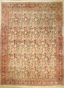 Mud alt, Persien, ca. 50 Jahre, Wolle auf Baumwolle, ca. 410 x 310 cm, EHZ: 2-3 (eine Hälfte