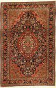 Djosan alt, Persien, ca. 70 Jahre, Wolle auf Baumwolle, ca. 153 x 102 cm, edel, EHZ: 2Djozan Rug,