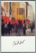 Gerhard Richter, geb. 1932. Dresden, Postkarte, sign., unter Glas gerahmt, gesamt 42x32 cmGerhard