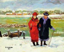 Boris Pavlov, 1928 Belvas, Lettland - 2005 Frankreich, Winter in den Voralpen/Grenoble,